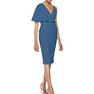 Dress the Pop Beth One Sleeve Sheath Midi Dress